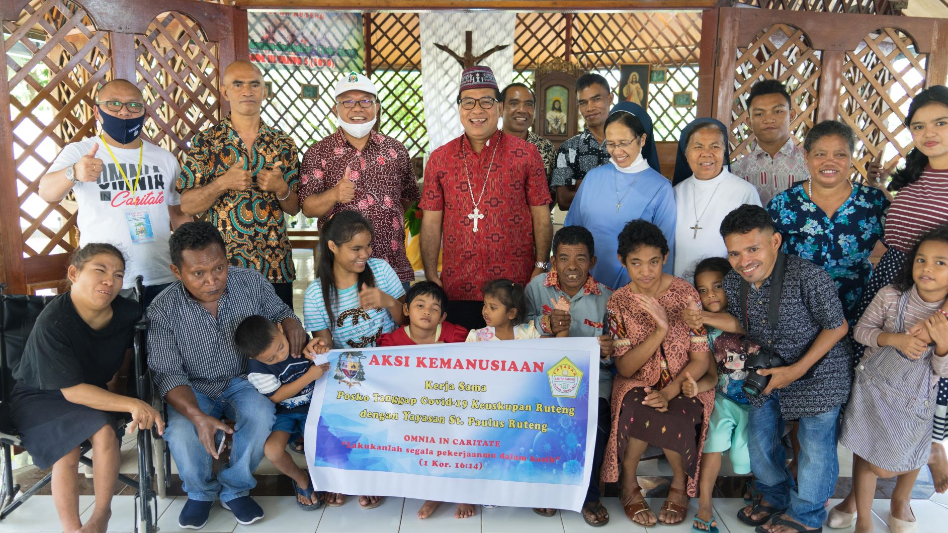 Uskup Ruteng Kunjungi Panti Rehabilitasi dan Shelter di Labuan Bajo